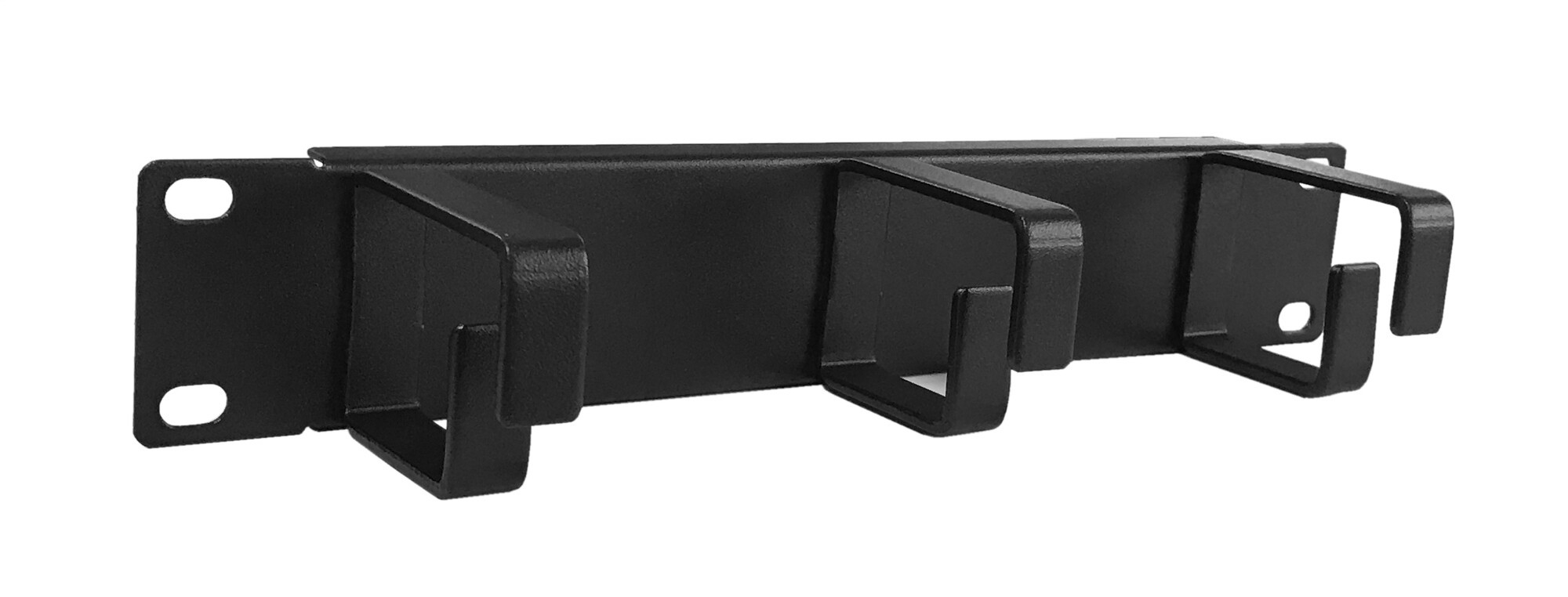 Afbeelding van 10 inch cable tray with 3 hooks - 1U