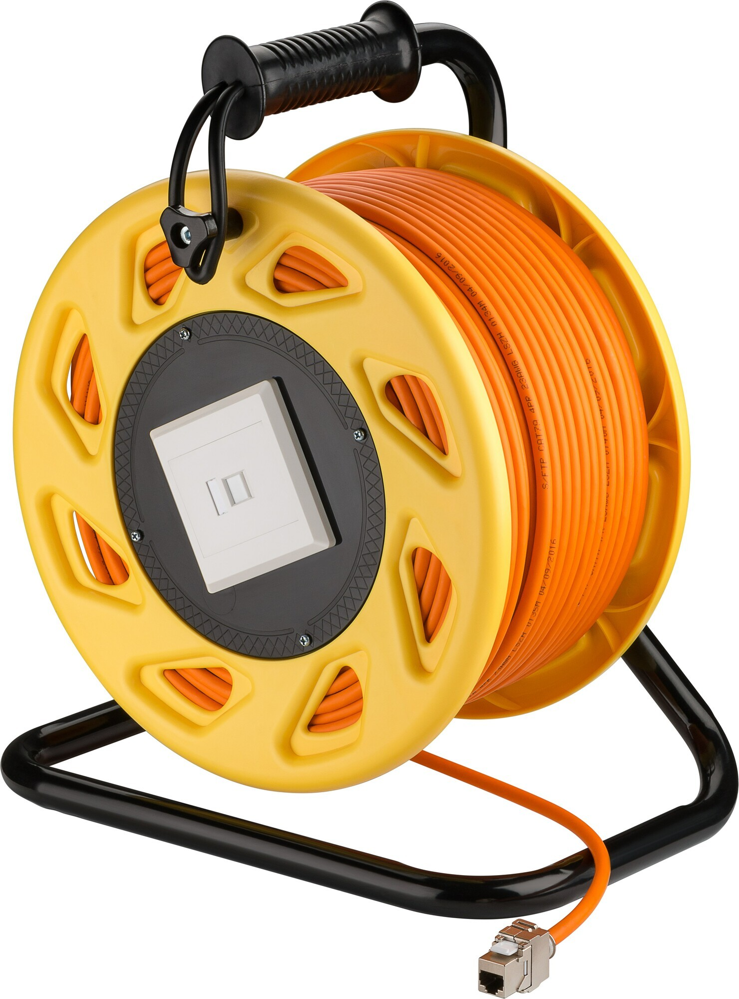 Afbeelding van CAT7 S/FTP cable reel with CAT6a keystone connector - RJ45 - 90 m