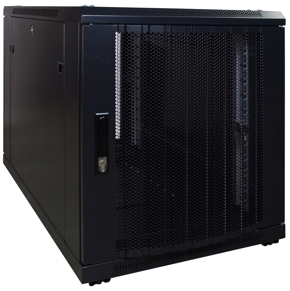 Afbeelding van 12U mini server cabinet with perforated door 600x1000x635mm (WxDxH)