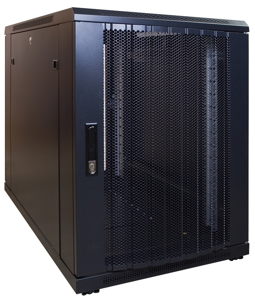 Afbeelding van 15U mini server cabinet with perforated door 600x1000x770mm (WxDxH)
