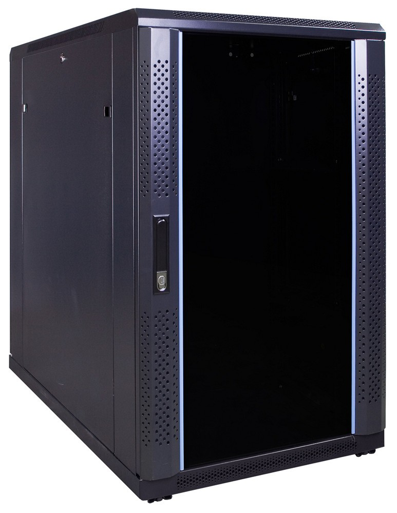 Afbeelding van 18U server cabinet with glass door 600x1000x1000mm (WxDxH)
