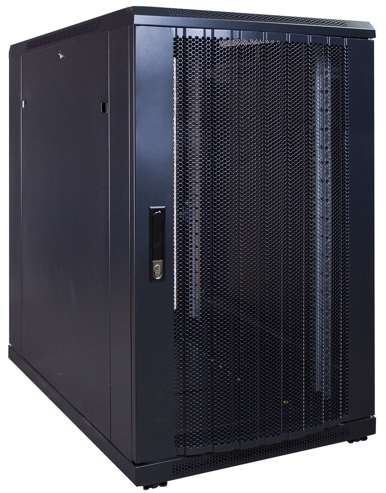 Afbeelding van 18U server cabinet with perforated door 600x1000x1000mm (WxDxH)