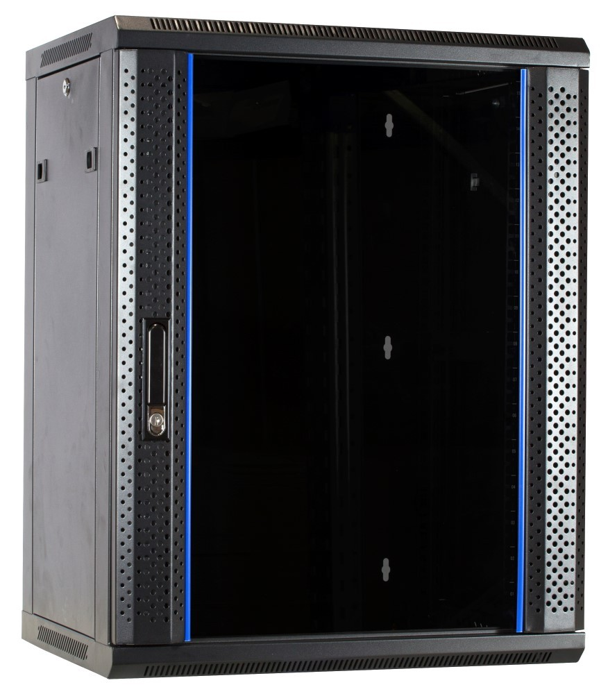 Afbeelding van 15U wall-mount server cabinet unassembled with glass door 600x450x770mm