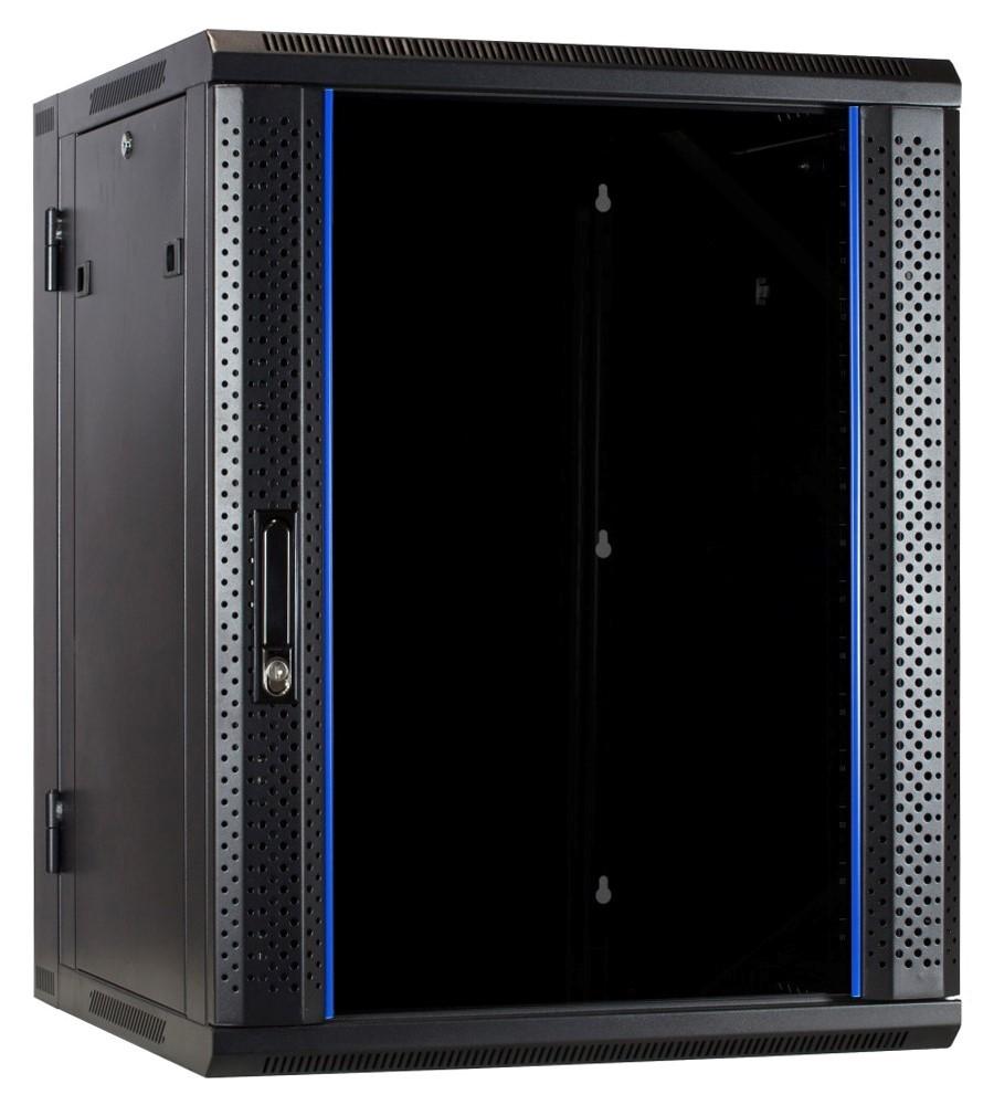 Afbeelding van 15U wall cabinet (tilting) with glass door 600x600x770mm