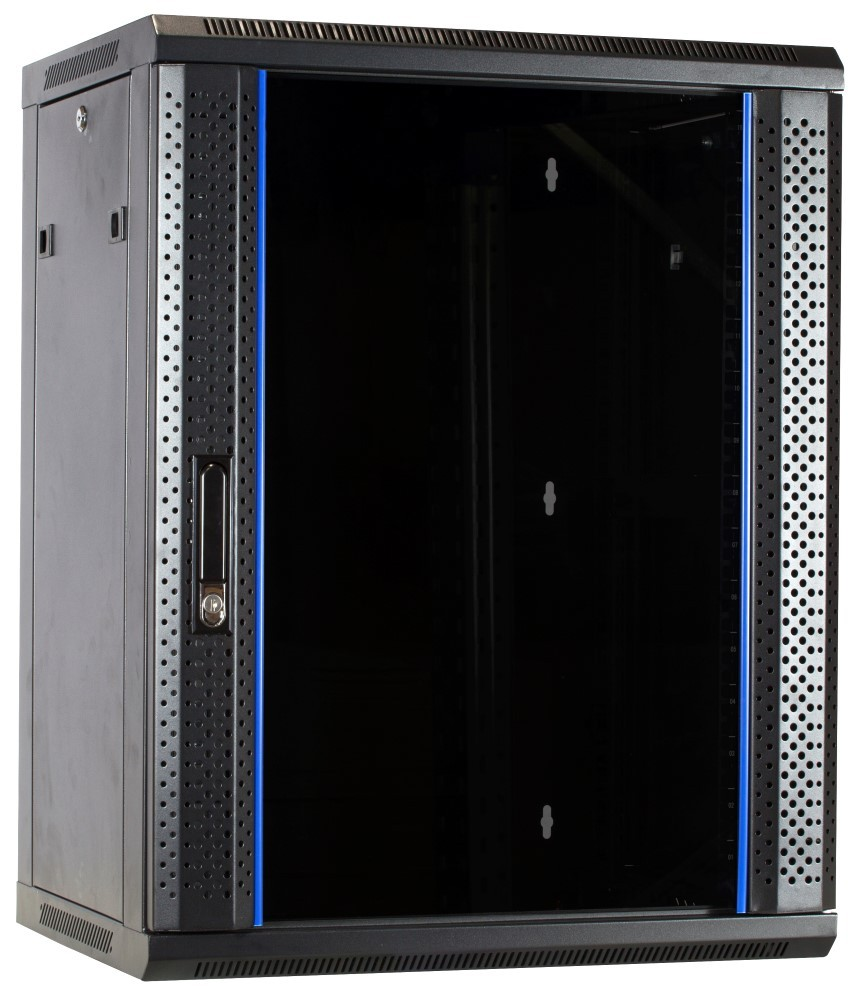 Afbeelding van 15U wall-mount server cabinet unassembled with glass door 600x600x770mm