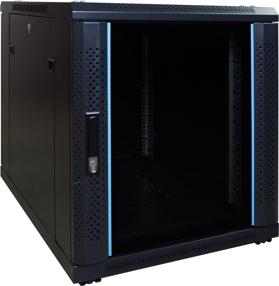 Afbeelding van 12U mini server cabinet with glass door 600x800x635mm (WxDxH)
