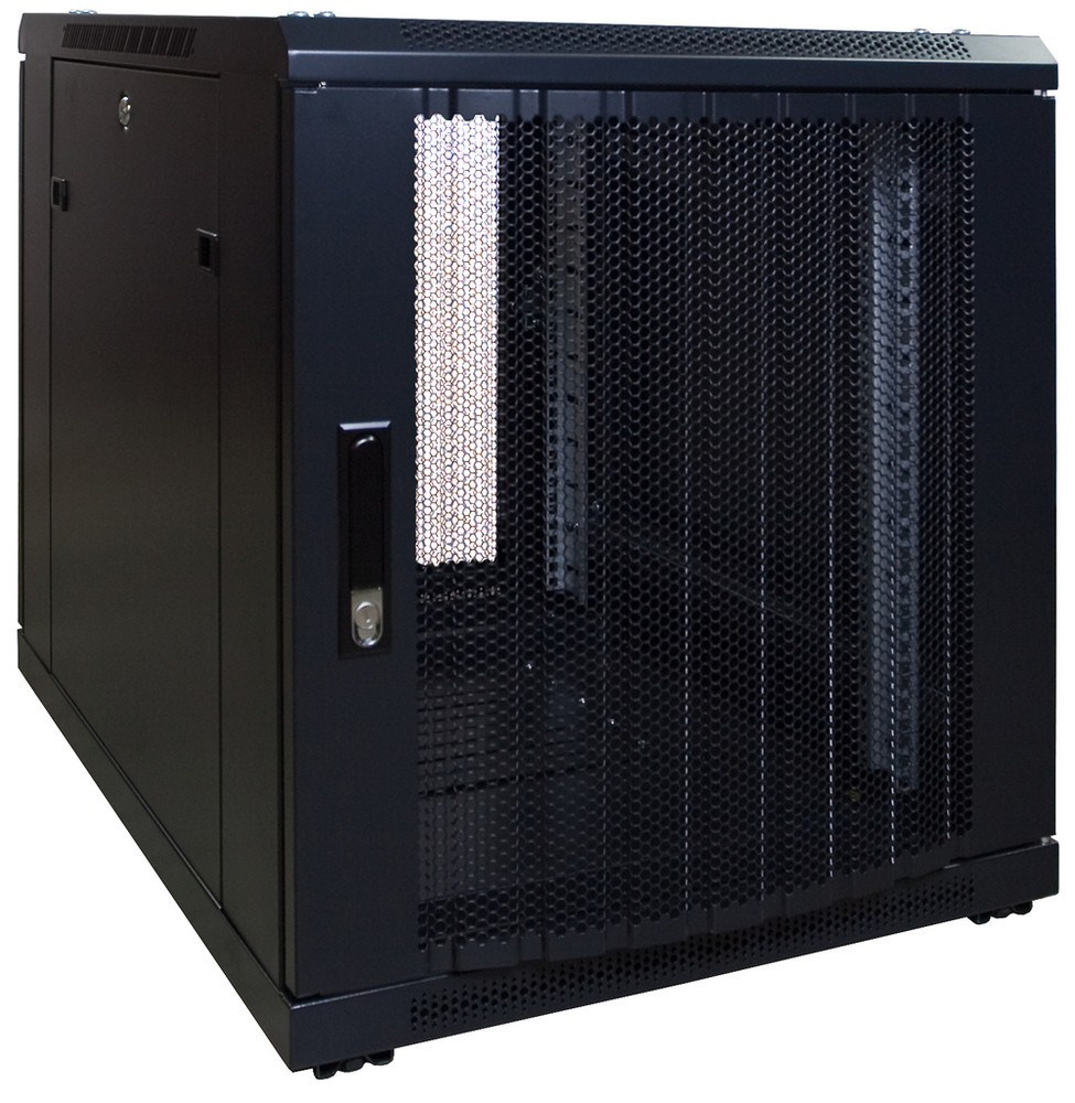 Afbeelding van 12U mini server cabinet with perforated 600x800x635mm (WxDxH)