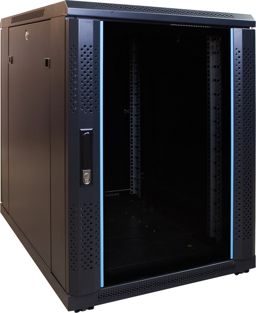 Afbeelding van 15U mini server cabinet with glass door 600x800x769mm (WxDxH)