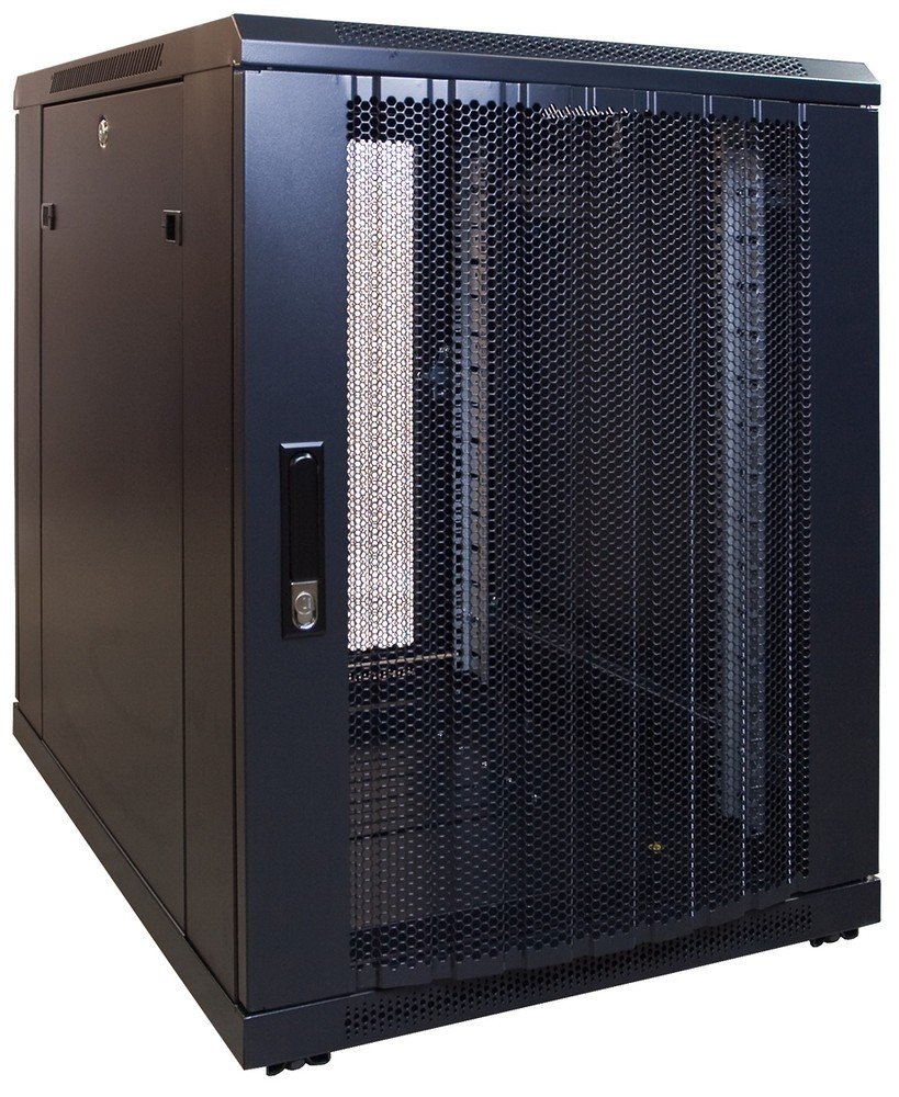 Afbeelding van 15U mini server cabinet with perforated door 600x800x769mm (BxDxH)