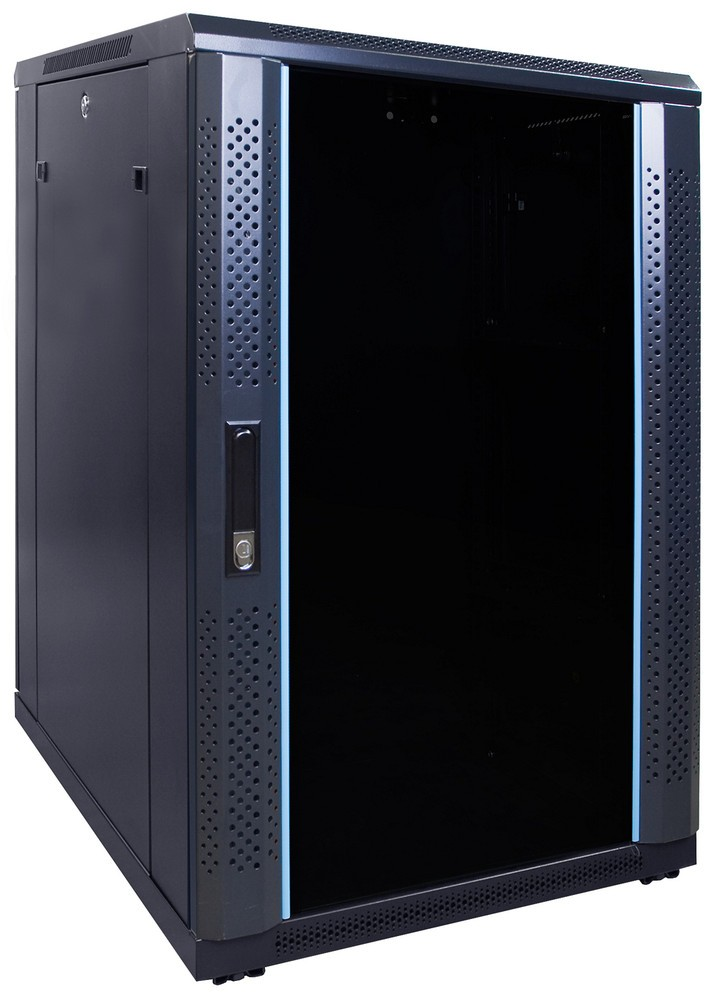 Afbeelding van 18U server cabinet with glass door 600x800x1000mm (WxDxH)