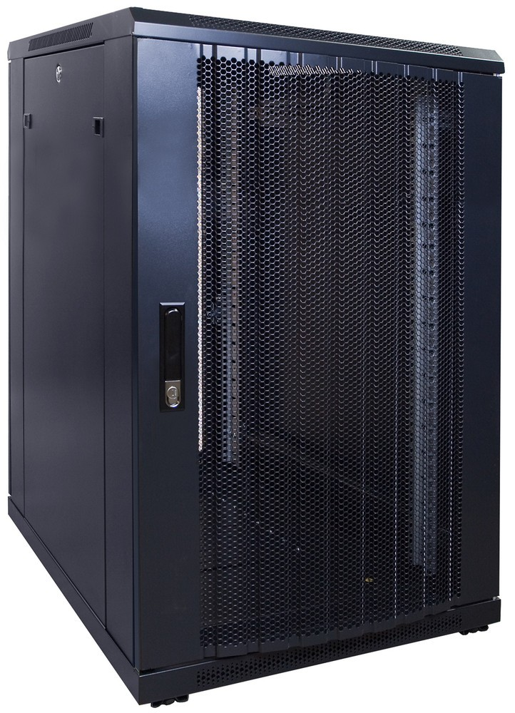 Afbeelding van 18U server cabinet with perforated door 600x800x1000mm (WxDxH)