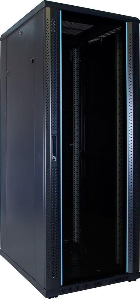 Afbeelding van 32U server cabinet unmounted with glass door 600x800x1600mm (WxDxH)