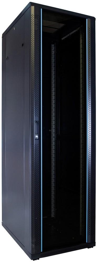 Afbeelding van 42U server cabinet unmounted with glass door 600x800x2000mm (WxDxH)
