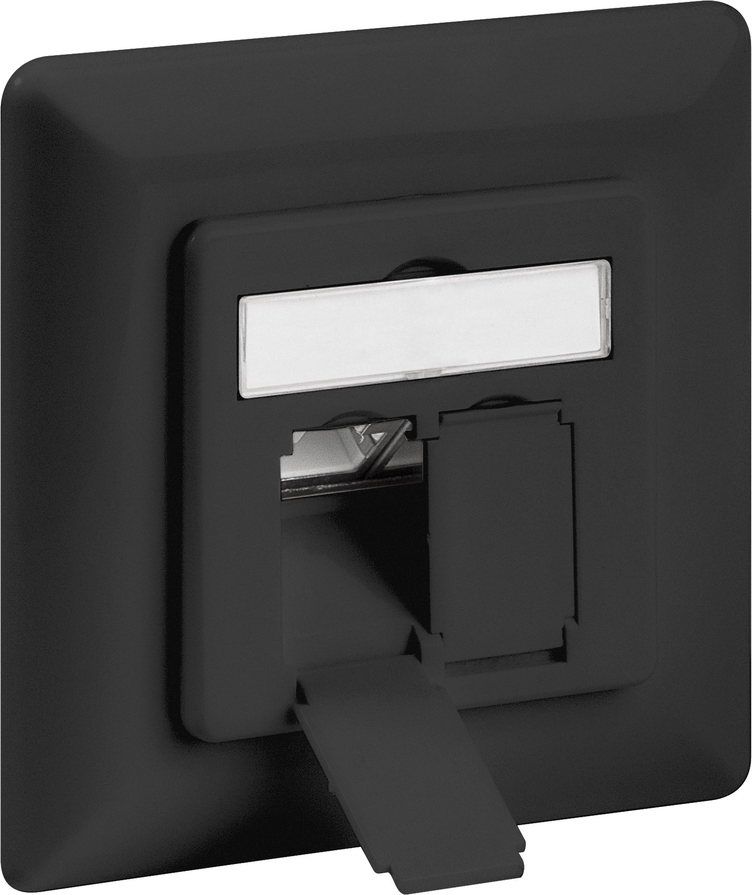 Afbeelding van Cat6a STP flush-mounted socket, black