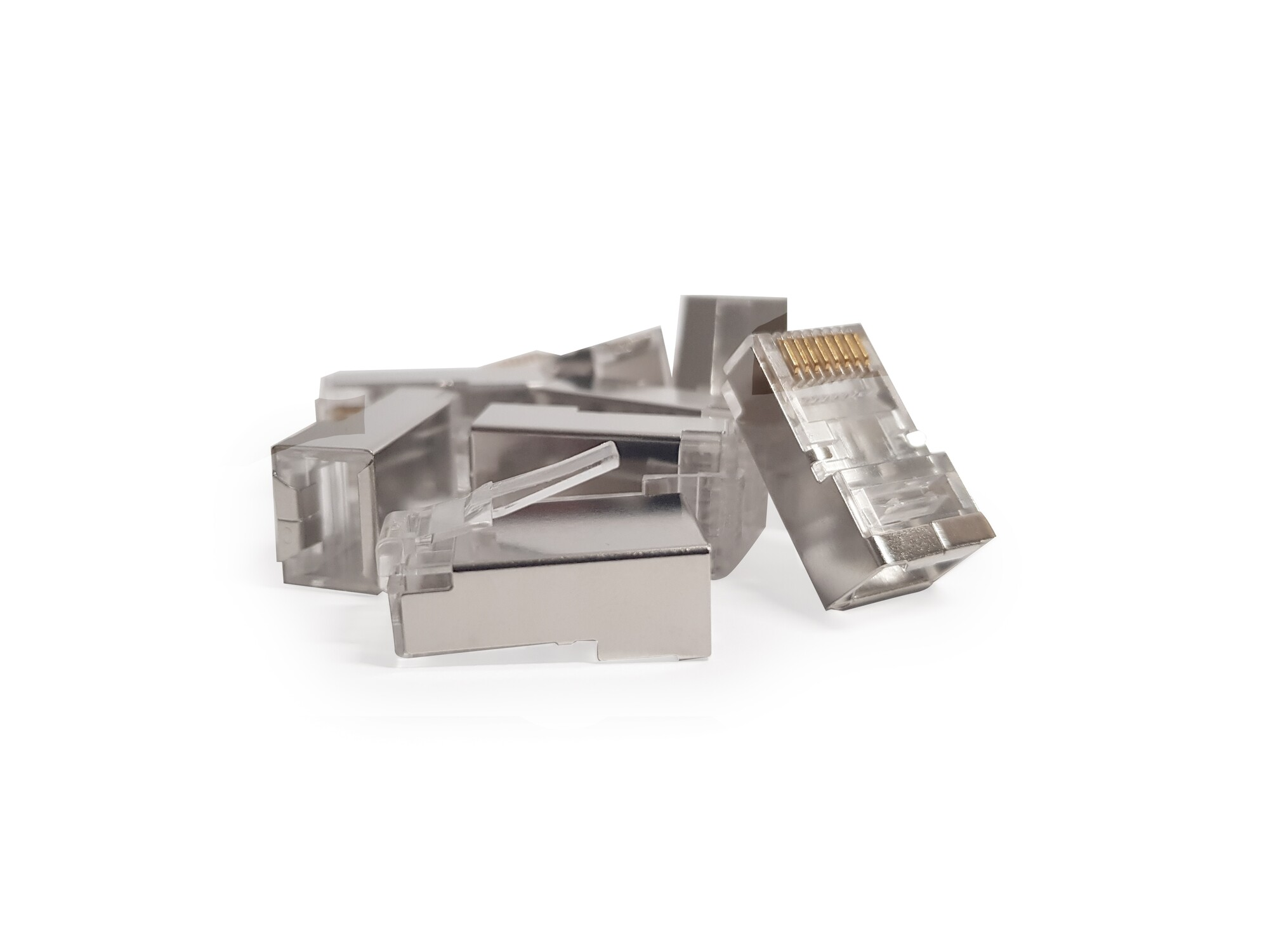 Afbeelding van CAT5 connector RJ45 - shielded - 10 pieces