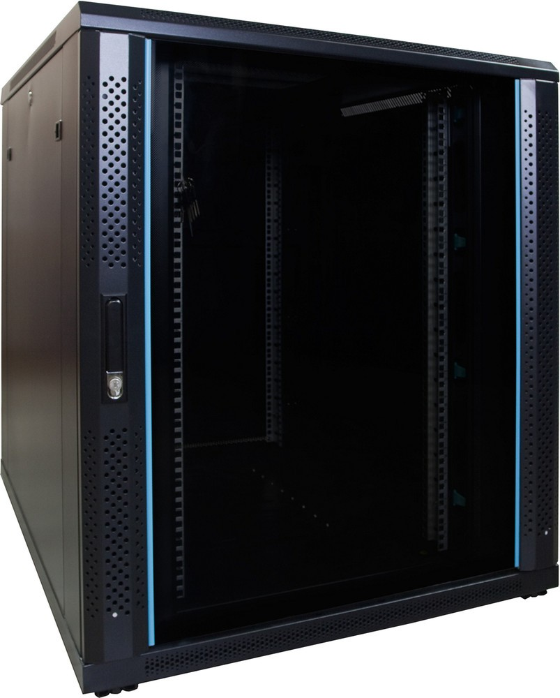 Afbeelding van 18U server cabinet with glass door 800x1000x1000mm (WxDxH)