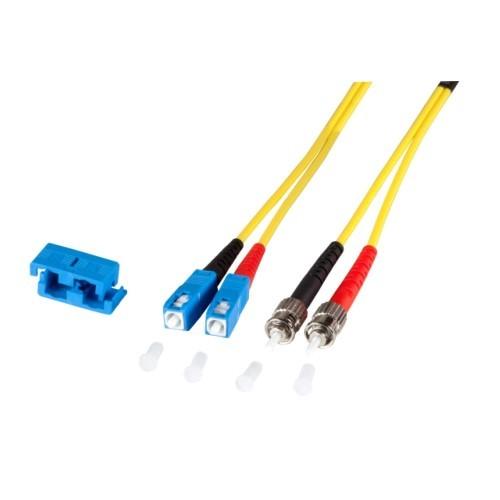 Afbeelding van OS2 duplex duplex fibre optic cable SC-ST 0,50m