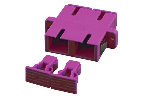 Afbeelding van Multimode coupler SC-SC duplex purple