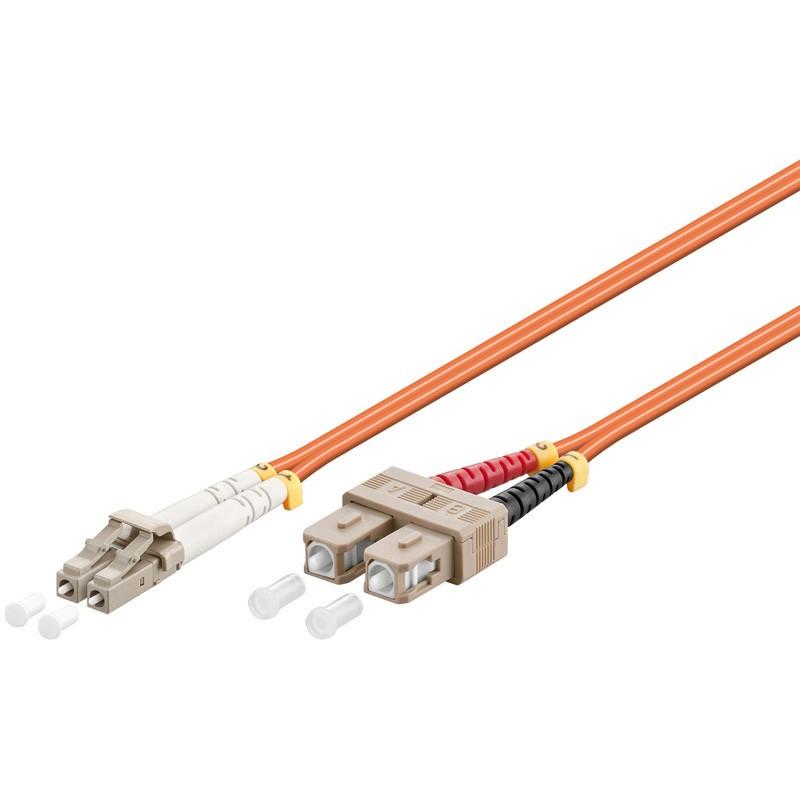Afbeelding van Fibre optic cable LC-SC OM2 0,50m