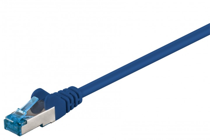 Afbeelding van CAT6a S/FTP (PIMF) 0,25m blue