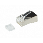 CAT6 RJ45 connector with load bar and joint-piece - shielded - for stranded cable