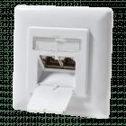 CAT6 UTP / STP flush-mounted box vertical, white