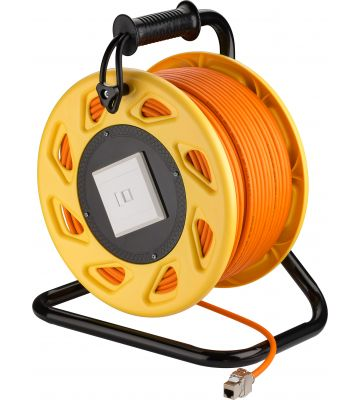 CAT7 S/FTP cable reel with CAT6a keystone connector -  RJ45 - 90 m