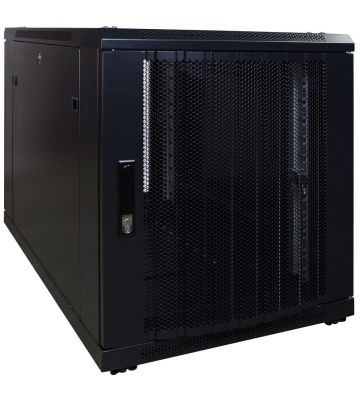 12U mini server rack with perforated door 600x1000x720mm (WxDxH)