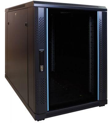 15U mini server rack with glass door 600x1000x860mm (WxDxH)