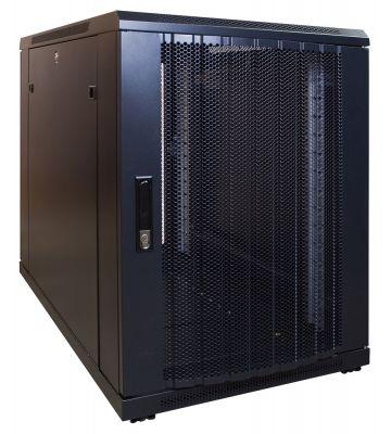 15U mini server rack with perforated door 600x1000x860mm (WxDxH)