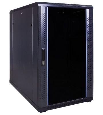 18U server rack with glass door 600x1000x1000mm (WxDxH)