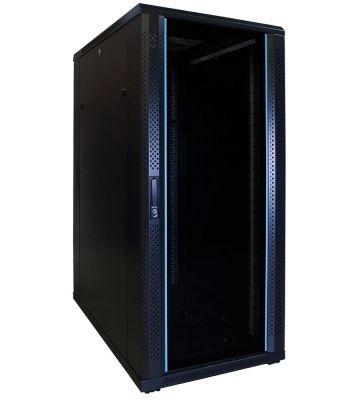 27U server rack with glass door 600x1000x1400mm (WxDxH)