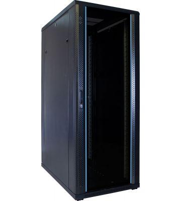 32U server rack with glass door 600x1000x1600mm (WxDxH)