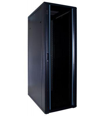 37U server rack with glass door 600x1000x1800mm (WxDxH)
