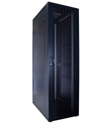 42U server rack with perforated door 600x1000x2000mm (WxDxH)