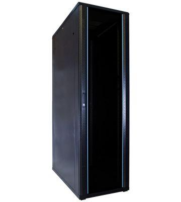42U server rack with glass door 600x1200x2000mm (WxDxH)
