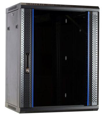 15U wall-mount server rack unassembled with glass door 600x450x770mm