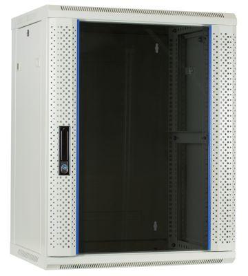 15U white wall mount rack with glass door 600x450x770mm