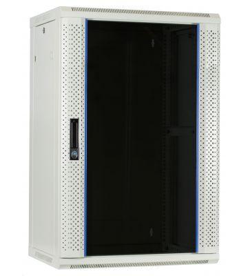 18U white wall mount server rack wiht glass door 600x450x900mm