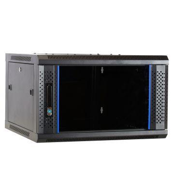 6U wall mount rack with glass door 600x600x368mm