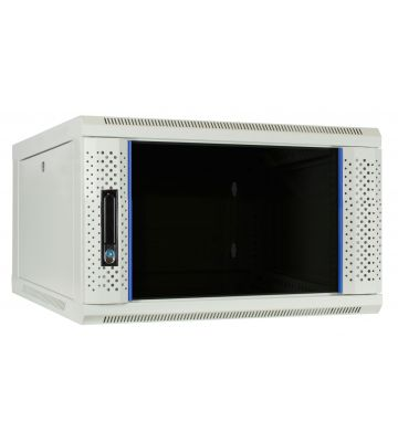 6U white wall mount server rack with glass door 600x600x368mm