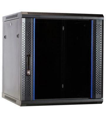 12U wall-mount server rack unassembled with glass door 600x600x635mm (WxDxH)
