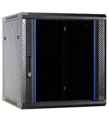 12U wall mount rack with glass door 600x600x635mm (WxDxH)