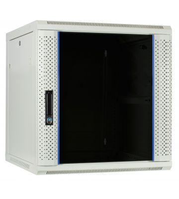 12U white wall mount rack with glass door 600x600x635mm