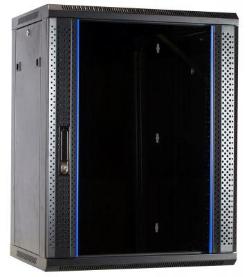 15U wall-mount server rack unassembled with glass door 600x600x770mm