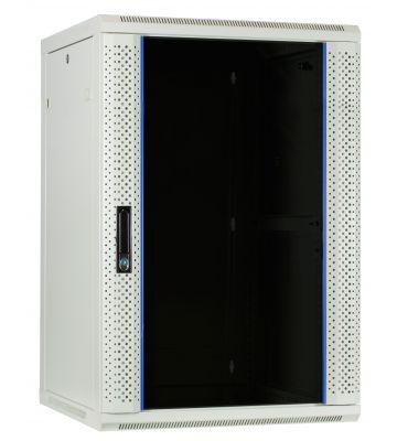 18U white wall mount rack with glass door 600x600x900mm