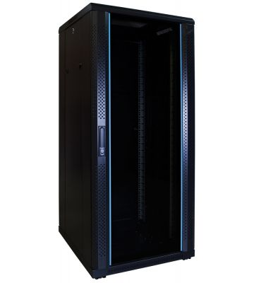 27U server rack with glass door 600x600x1400mm (WxDxH)