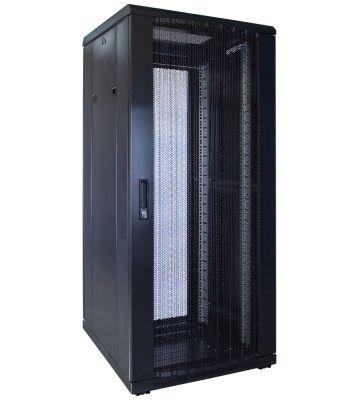 27U server rack with perforated door 600x600x1400mm (WxDxH)