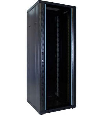 32U server rack with glass door 600x600x1600mm (WxDxH)