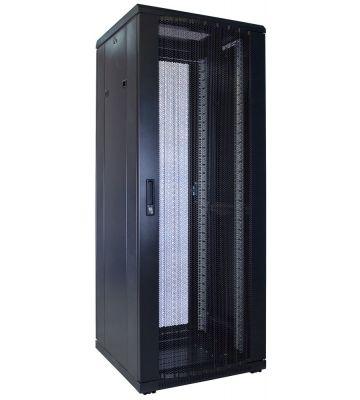 32U server rack with perforated door 600x600x1600mm (WxDxH)